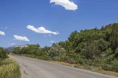 Panoramautsikt för huvudväg 132, Paonia, Colrado Royaltyfri Bild