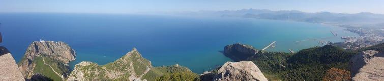 Panoramautsikt från Bejaia, Algeriet royaltyfria foton