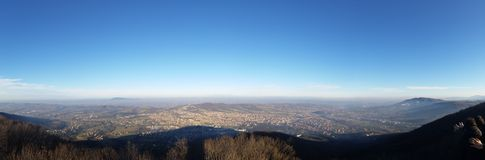 panoramautsikt från berget Arkivfoton