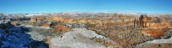 Panoramautsikt från den sceniska bywayen för Utah statrutt 12 Arkivbilder