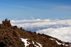 Panoramautsikt från det Teide berget Arkivfoton