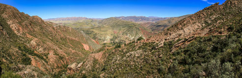 Panoramautsikt från Inca Trail, Sucre, Bolivia Royaltyfri Bild
