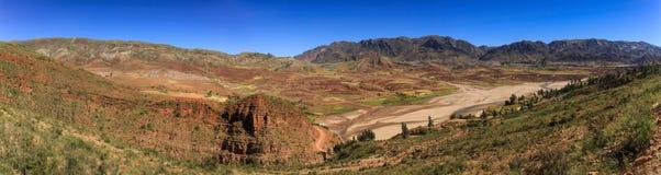 Panoramautsikt från Inca Trail, Sucre, Bolivia Royaltyfri Foto