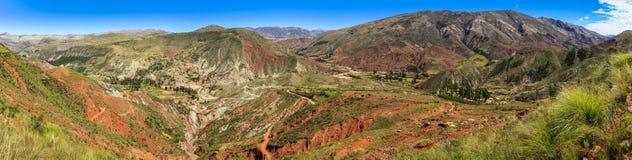 Panoramautsikt från Inca Trail, Sucre, Bolivia Arkivfoto