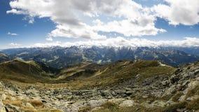 Panoramautsikt från Kreuzjoch arkivfoton