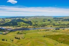 Panoramautsikt från Te Mata Peak fotografering för bildbyråer