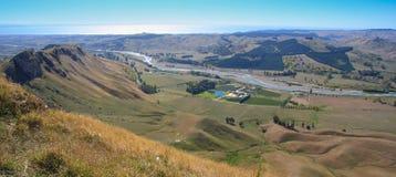 Panoramautsikt från Te Mata Peak, Napier royaltyfria bilder