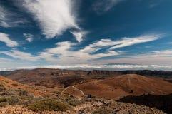 Panoramautsikt från teiden, tenerife Royaltyfri Bild