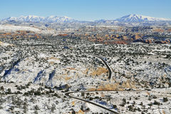 Panoramautsikt från Utah statrutt 12 Royaltyfri Bild