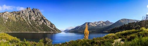 Panoramautsikt från vägen av de sju sjöarna, Patagonia, Argentina Royaltyfria Foton