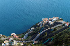 Panoramautsikt från terrassen av villan Cimbrone, Ravello, Italien Royaltyfria Bilder