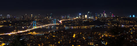 Panoramautsikt Istanbul arkivbild