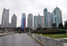 Panoramautsikt modern stad Shanghai, Kina, Asien Royaltyfria Foton