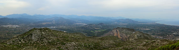 Panoramautsikt på Montgo Royaltyfri Bild