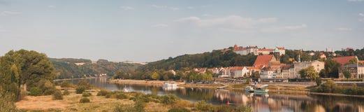 Panoramautsikt på Pirna, Tyskland royaltyfria foton