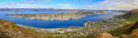 Panoramautsikt på Tromsø Fotografering för Bildbyråer