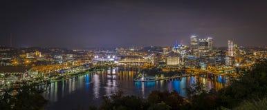 Panoramautsikt pf Pittsburgh USA Arkivbild