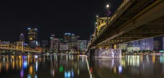 Panoramautsikt pf Pittsburgh USA Fotografering för Bildbyråer