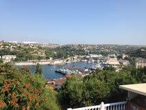 Panoramautsikt Sevastopol Arkivbild