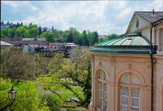 Panoramautsikt till Baden Baden i Tyskland Royaltyfri Bild