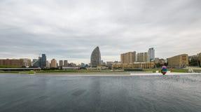 Panoramautsikt till Baku Fotografering för Bildbyråer