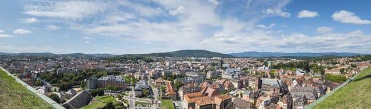 panoramautsikt till Belfort Frankrike Royaltyfri Bild