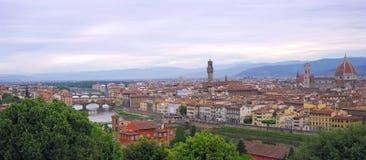 Panoramautsikt till Florence Arkivfoto