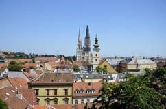 Panoramautsikt Zagreb Royaltyfri Foto