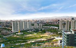 Panoramautsikten av den hela staden av Ulaanbaatar, Mongoliet Arkivbild
