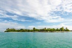 Panoramautsikten av inget Mans land i Tobago den västra Indies tropiska ön Royaltyfri Bild