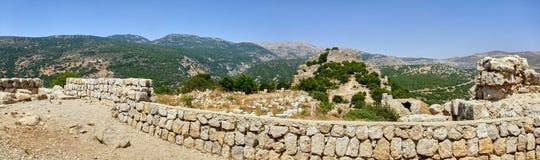 Panoramautsikten på antikviteten fördärvar arkivfoton