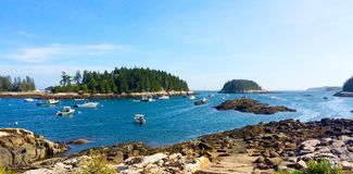Panoramautsikthamn Royaltyfria Bilder