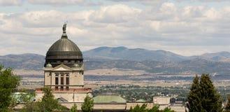 Panoramautsikthuvudkupol Helena Montana State Building royaltyfria bilder