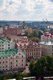 Panoramaview av Vyborg Arkivfoton
