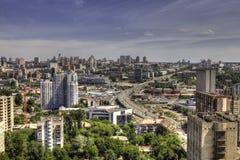 Panoramavogelperspektive von Kyiv Lizenzfreies Stockfoto