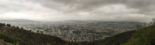 Panoramavogelperspektive von Tiflis Lizenzfreie Stockfotos