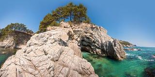 panoramawildcoast Arkivbild
