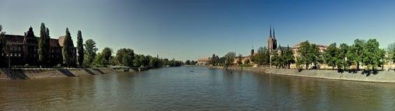 panoramawroclaw Fotografering för Bildbyråer