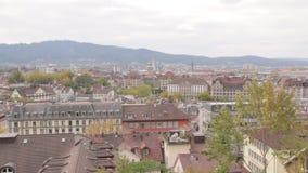 PanoramaZurich Cityscape stock video