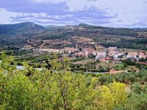 Panorame de banlieue de Bosa Photos stock