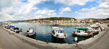 Panorame of Nea Skioni (greece) Royalty Free Stock Photography