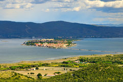 Panorame of Orbetello Royalty Free Stock Images