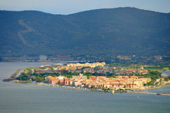 Panorame of Orbetello Stock Photos