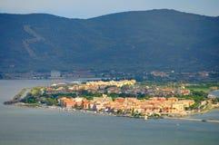 Panorame of Orbetello Stock Photos