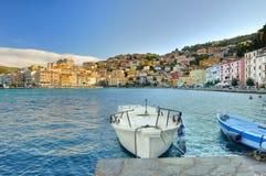 Panorame of Porto Santo Stefano Stock Photo