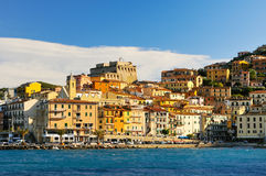 Panorame of Porto Santo Stefano Stock Photos
