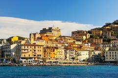 Panorame of Porto Santo Stefano Stock Photos
