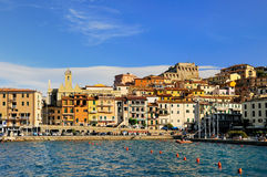 Panorame of Porto Santo Stefano Stock Photography