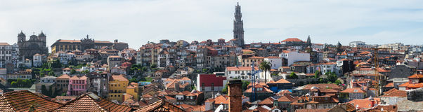 Panorame of Worn out houses, Porto, Stock Images