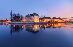 The panorame of Wroclaw cityscape, view from river Odra. Stock Photography
